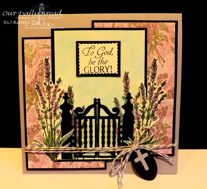 Our Daily Bread Designs, ODBDSLC220, Lavender, Glory, Mini Tags dies, Gilded Gate Dies, Heart and Soul Paper Collection, Designed by DJ Rants