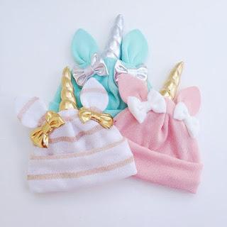 unicorn bebek şapkası