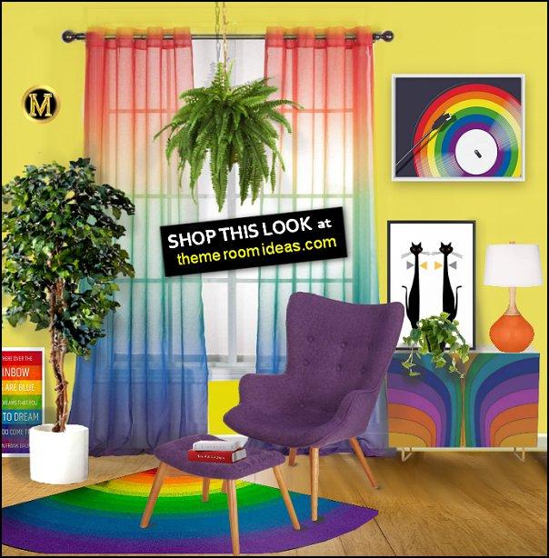 rainbow living room decorating ideas rainbow decor rainbow colors decor rainbow