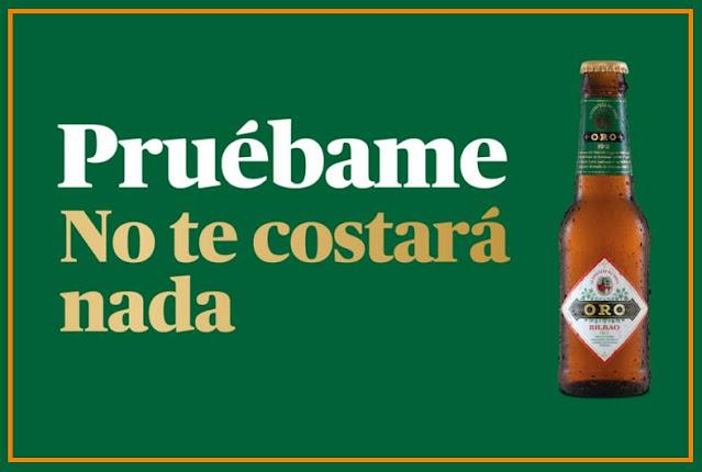 Prueba gratis cerveza Oro Bilbao