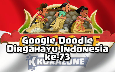 Google Doodle - 73 Tahun Dirgahayu Indonesia (Independence Day 2018)