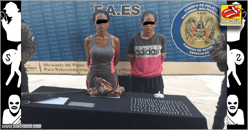 Dos mujeres detenidas con rifles y pitillos de cocaína