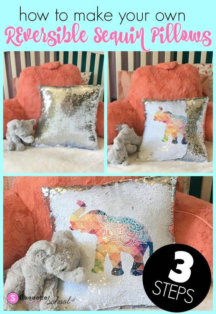 sublimation sequin pillows tutorial 3