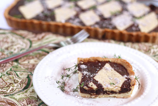 Chocolate Espresso Tart in a Thyme Crust