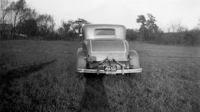 Vintage picture from 1954 of 1932 Ford