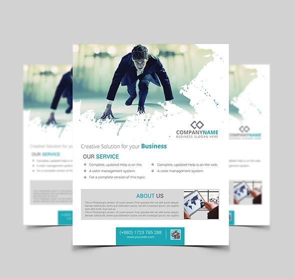 Modern Corporate PSD Flyer Template Mockup, Flyer template mockup