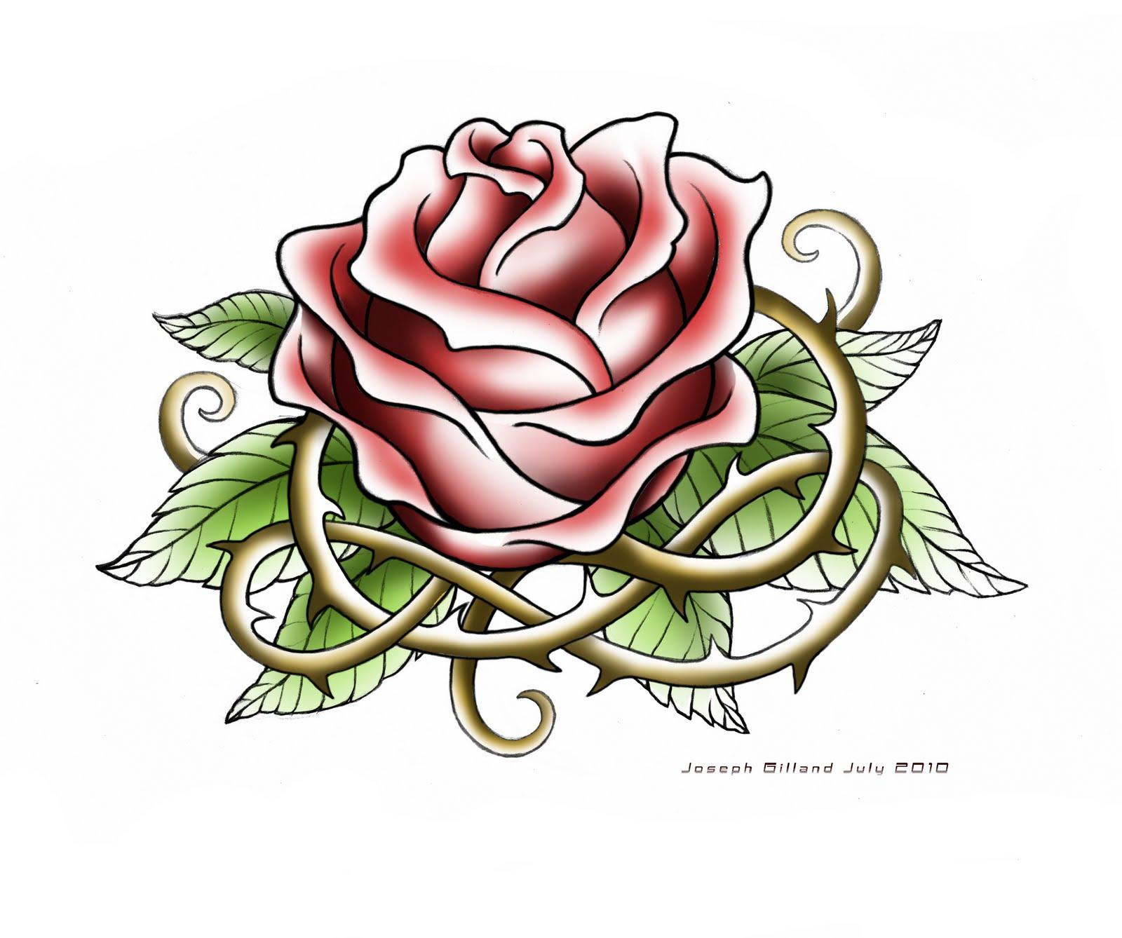 rose tattoos drawing rosetattoo 01