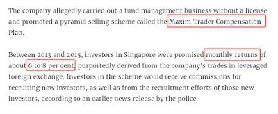 Singapore news today | BEWARE OF THESE NEW PONZI SCHEMES ...