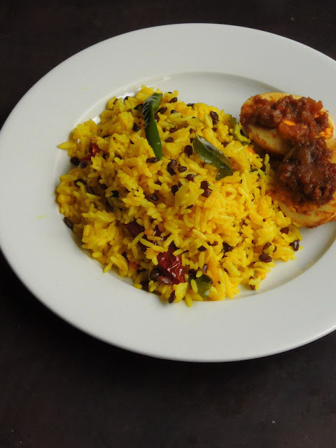 Black Horsegram Lemon Rice, Kollu Lemon Rice