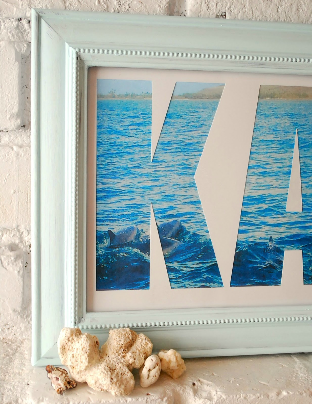 DIY Photo Mat Word Art - The Kim Six Fix