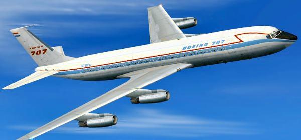 Boeing B707-120 Aeronave comercial Longo Alcance