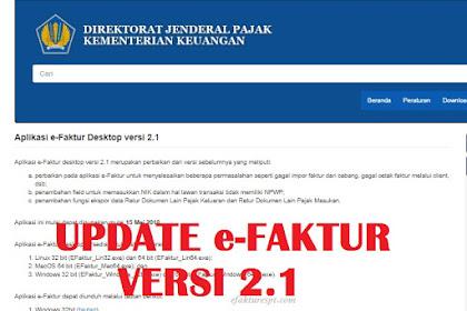 Download Update e-Faktur Versi 2.1 Mei 2018