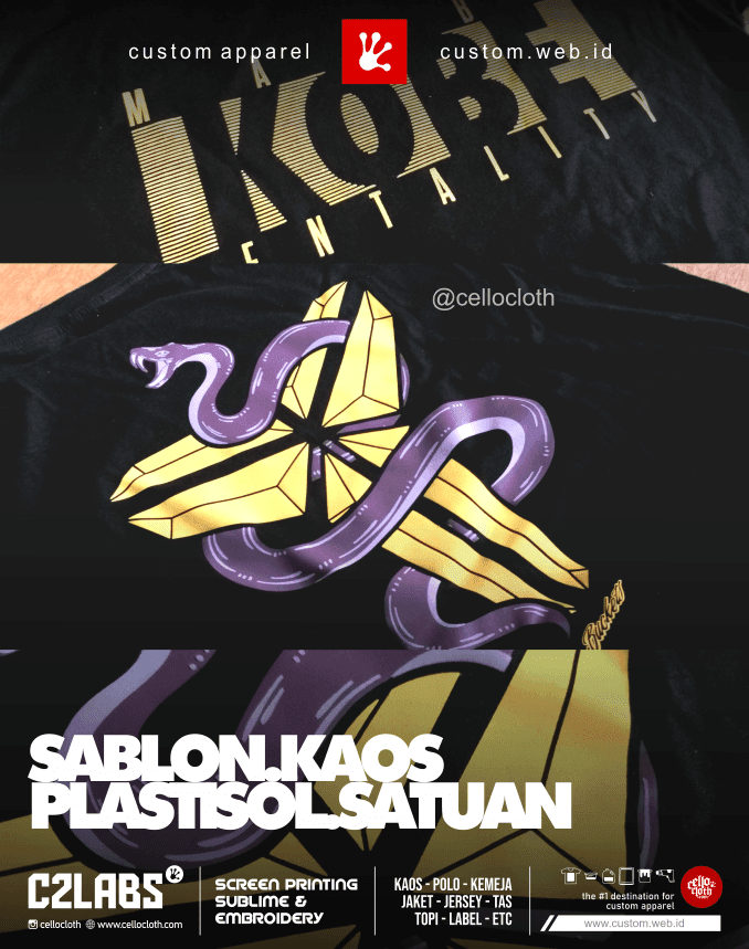 Sablon Kaos Plastisol Satuan - Sablon Kaos Distro Online