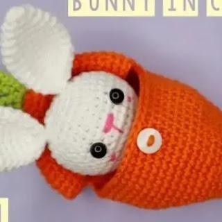 Amigurumi Conejito en Zanahoria a Crochet