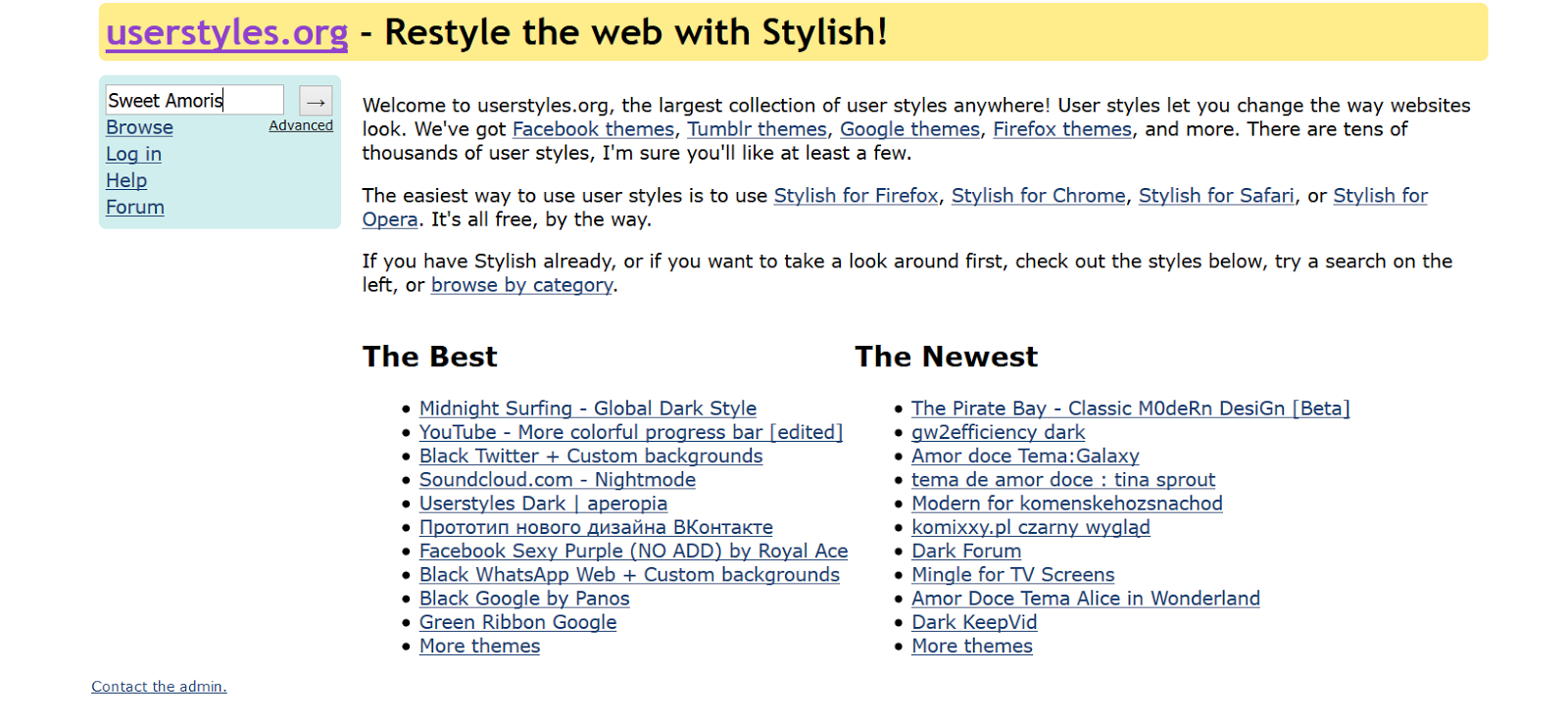 User styles google chrome themes - Es Erscheinen Ganz Viele Syles Wie Z B Dieses Hier Https Userstyles Org Styles 122099 Castiels Thema