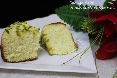 easy stove top sponge cake with 3 ingredients