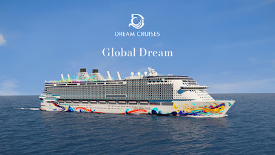 Genting's Dream Cruises unveils the hull art on their new ship  Global Dream