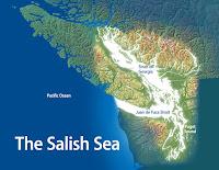 A map of the Salish Sea