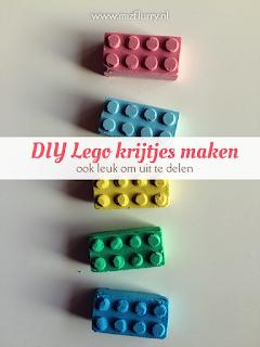 DIY Lego krijtjes maken - ook leuk om uit te delen