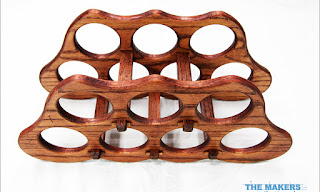 CNC Wood Carving Project - Wine rack