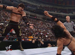 WWE / WWF Summerslam 2000 - Chyna makes the hot tag to Eddie Guerrero