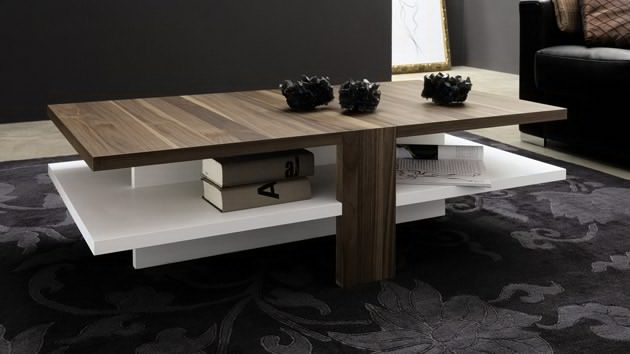 Modern Tables Living Room Centre Table One Foot Hardwood Materials With Contemporary Motif Styles Multi Layer