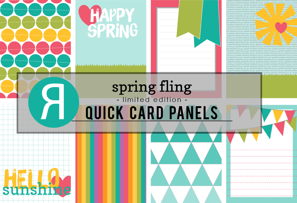 spring fling quick card panels