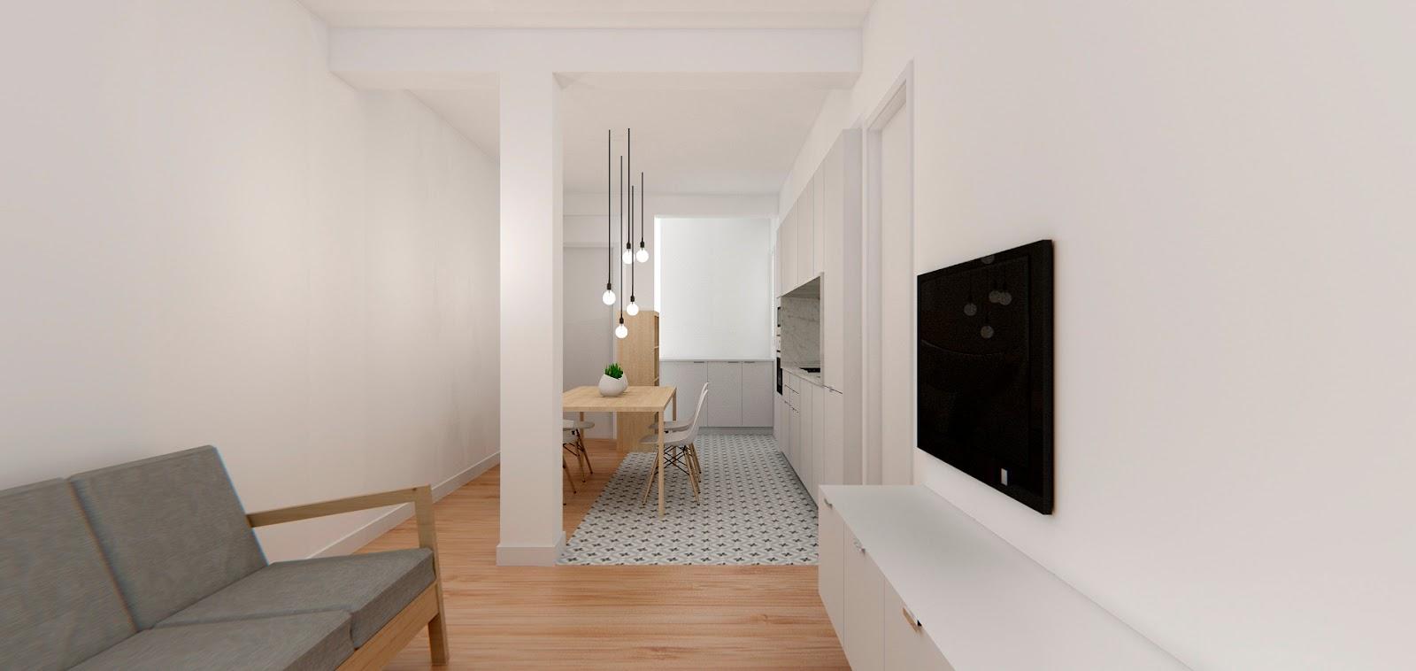 Reforma de apartamento en valencia dg arquitecto valencia - Reforma piso pequeno ...