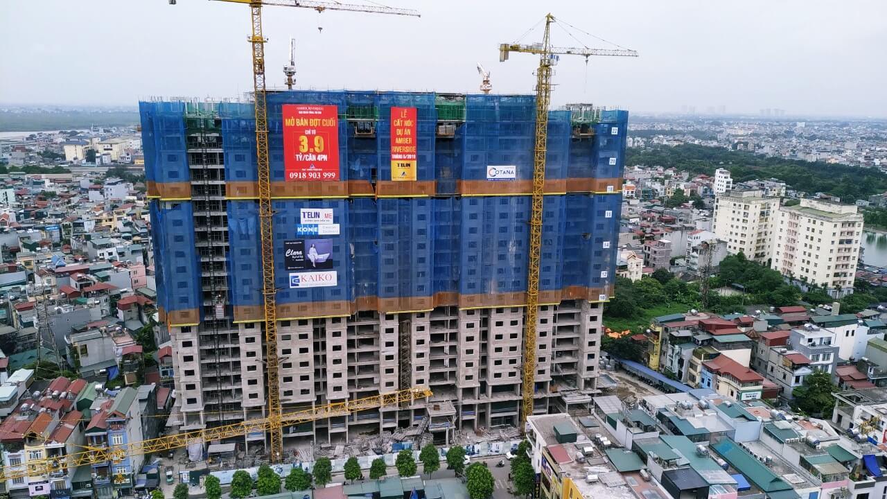 Cập nhật tiến độ xây dựng dự án Amber Riverside tháng 6 - 2019