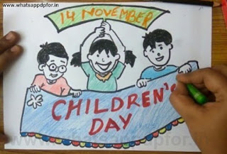 happy children's day drawing