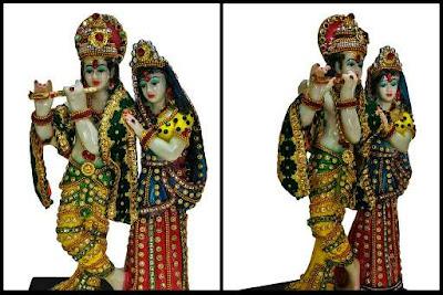 Lord Krishna Radha Standing Statue