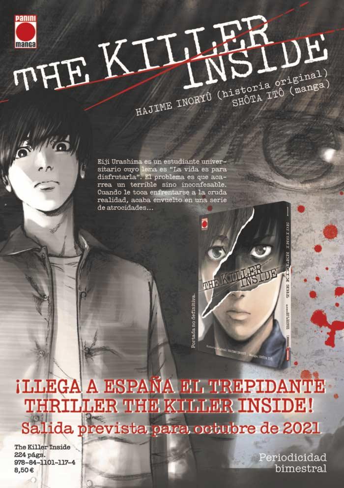 The Killer Inside (Shinai Naru Boku e Satsui o Komete) manga - Hajime Inoryuu y Shouta Itou - Panini Comics España