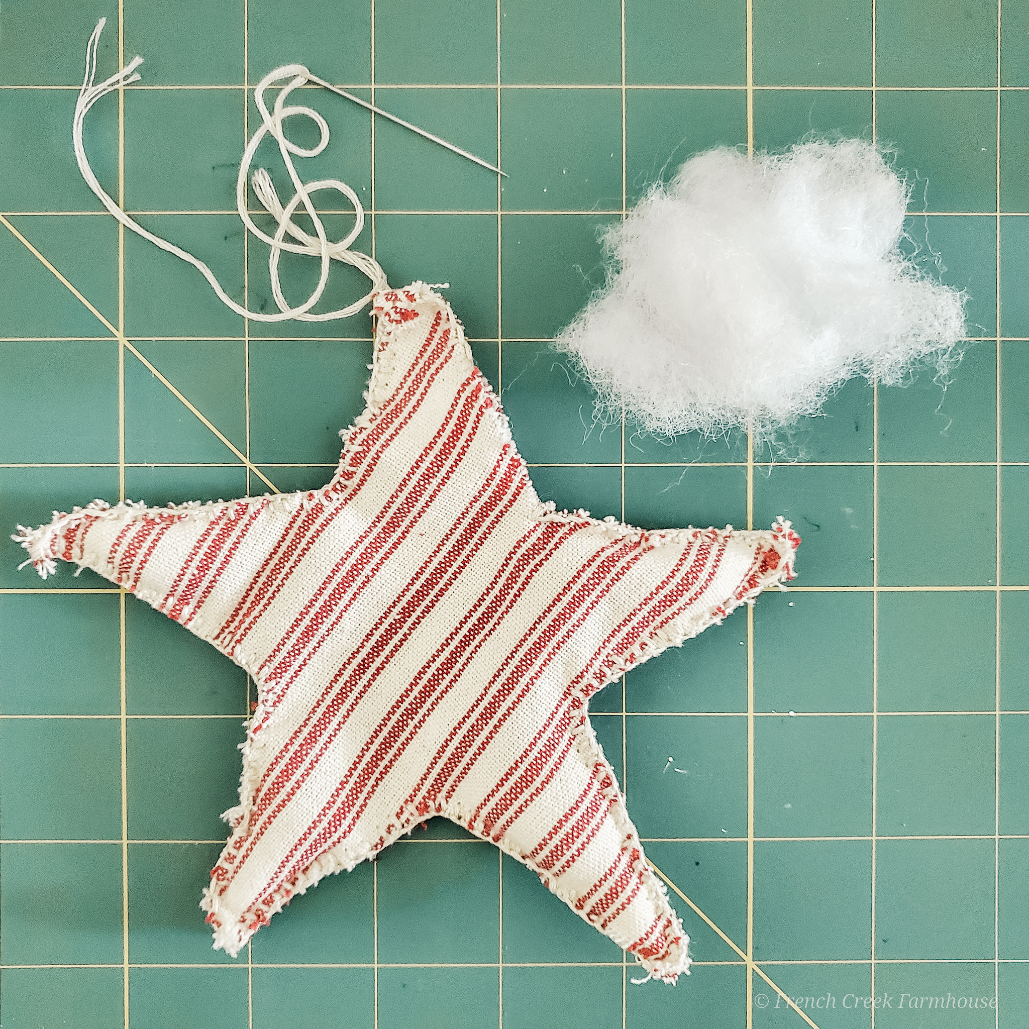 Make these patriotic stars without a sewing machine