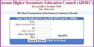 Assam HS Final Year Results 2021