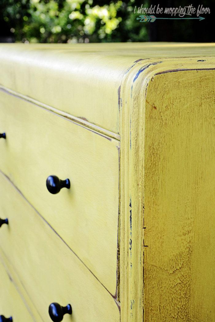 DIY Painted Waterfall Dresser