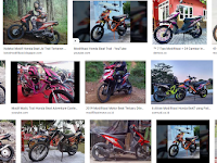 Modifikasi Motor Beat Karbu simple Baby Look warna biru putih pink hitam untuk trail touring dan road race
