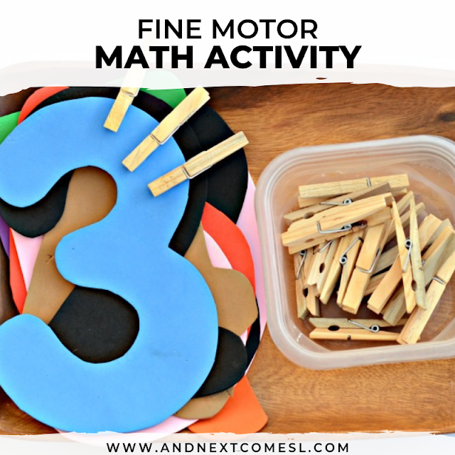 Math activity for toddlers or preschoolers