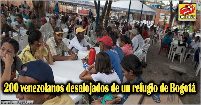 200 venezolanos desalojados de un refugio de Bogotá