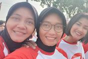 Personil Polwan Polsek Medan Helvetia Mengikuti Olah Raga Bersama di Hari Jadi ke 71 Polwan RI Thn 2019