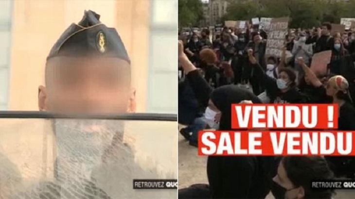 Le gendarme noir traité de « VENDU » à une manifestation antiraciste à Paris brise le silence