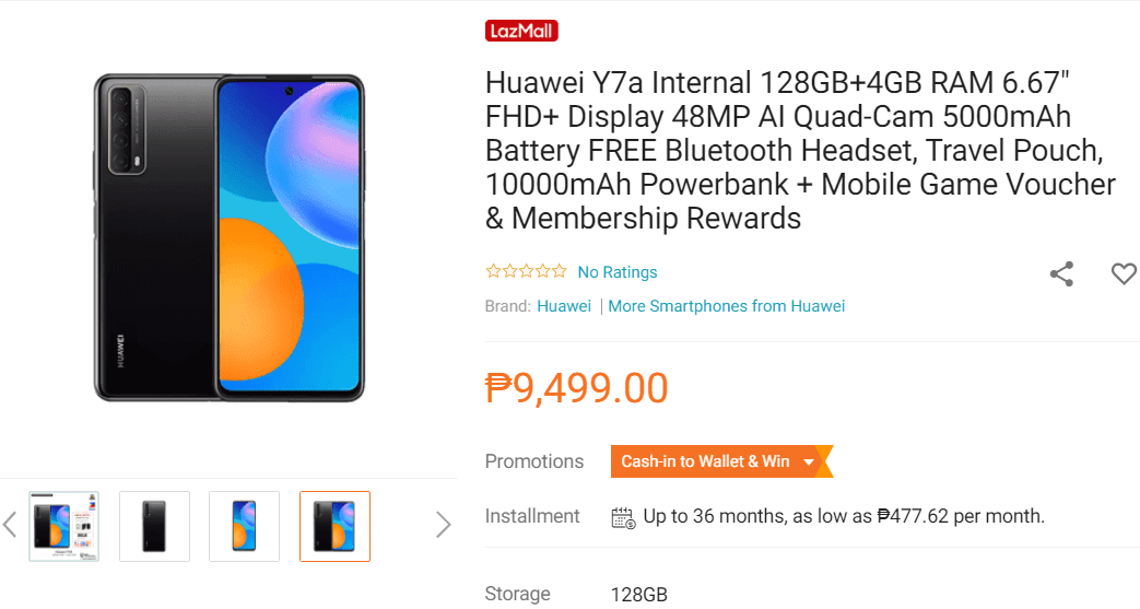 Might be priced under PHP 10K