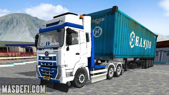 livery ud quester trailer kontainer hanjin