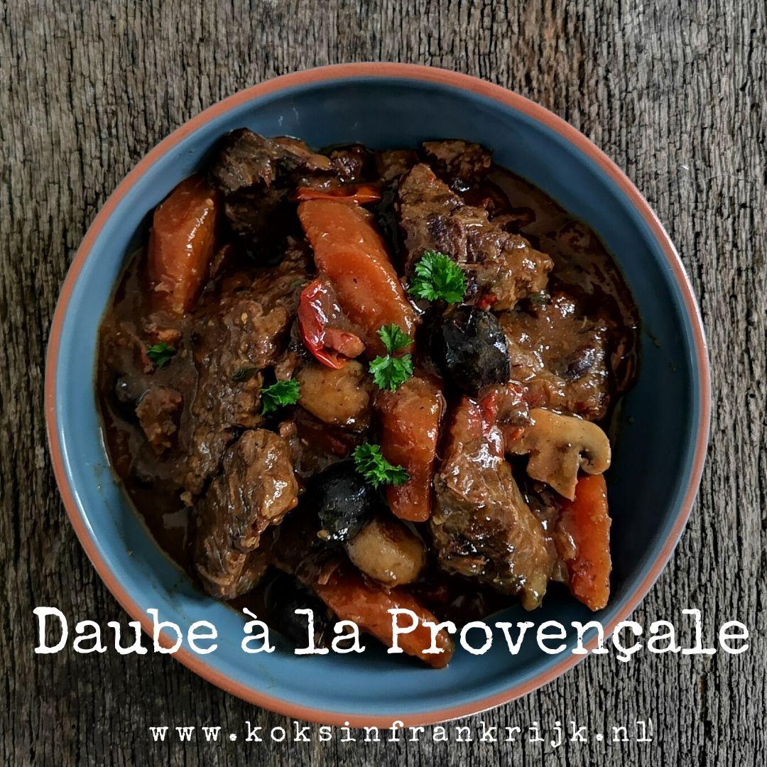 Recept voor klassieke Franse Daube à la Provençale van Escoffier in een nieuw jasje.