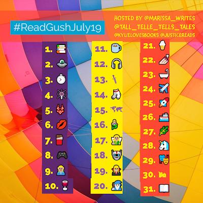 Read & Gush July - Emoji bookstagram challenge