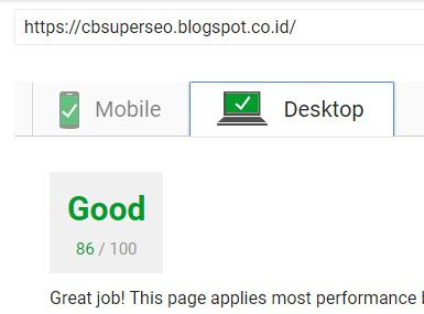 PageSpeed Insight HIJAU