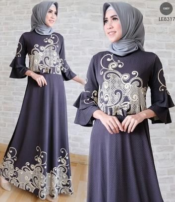 Model Baju Gamis Terbaru Lebaran 2018 80