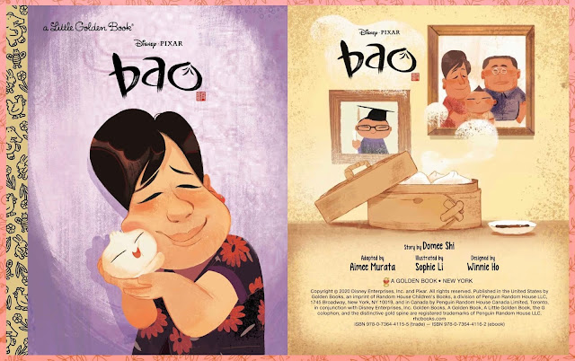 Bao Little Golden Book Cover, with Illustrator and Writer