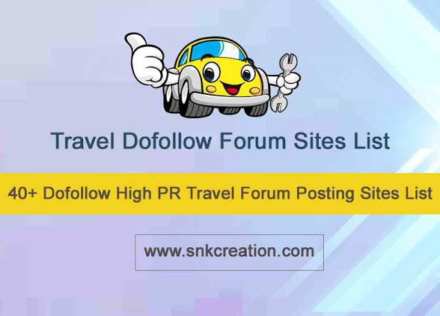 High PR Travel Forum Submission Site