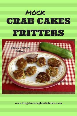 Mock Crab Cake Fritters Zucchini