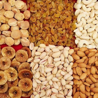 Daily dry fruits rates in Delhi.